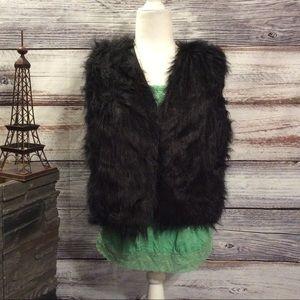 NWT Lanshifei Sleeveless Fur Vest